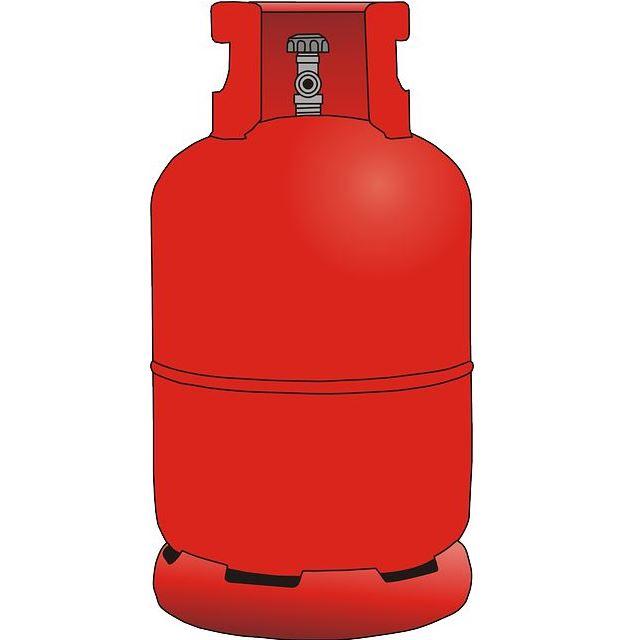 Gasflasche für Gasheizer und Terrassenheizer